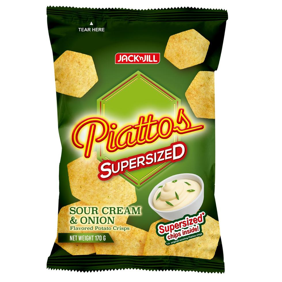 JACK N JILL PIATTOS SOUR CREAM AND ONION SUPERSIZED PACK 170G