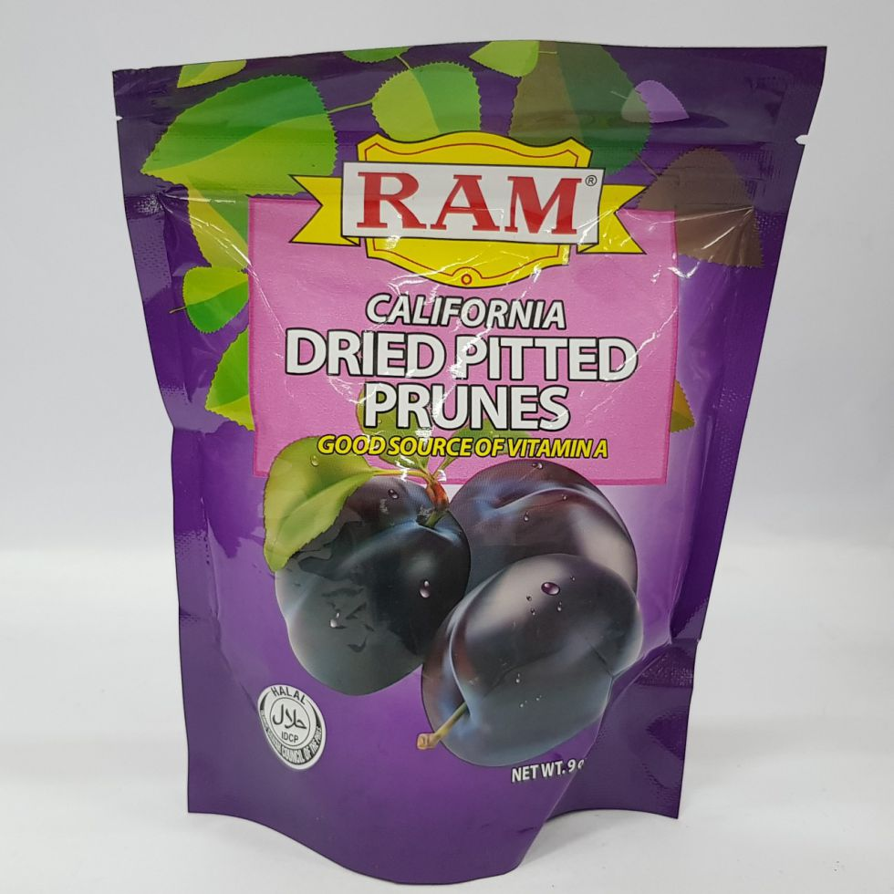 RAM DRIED PITTED PRUNES 255G