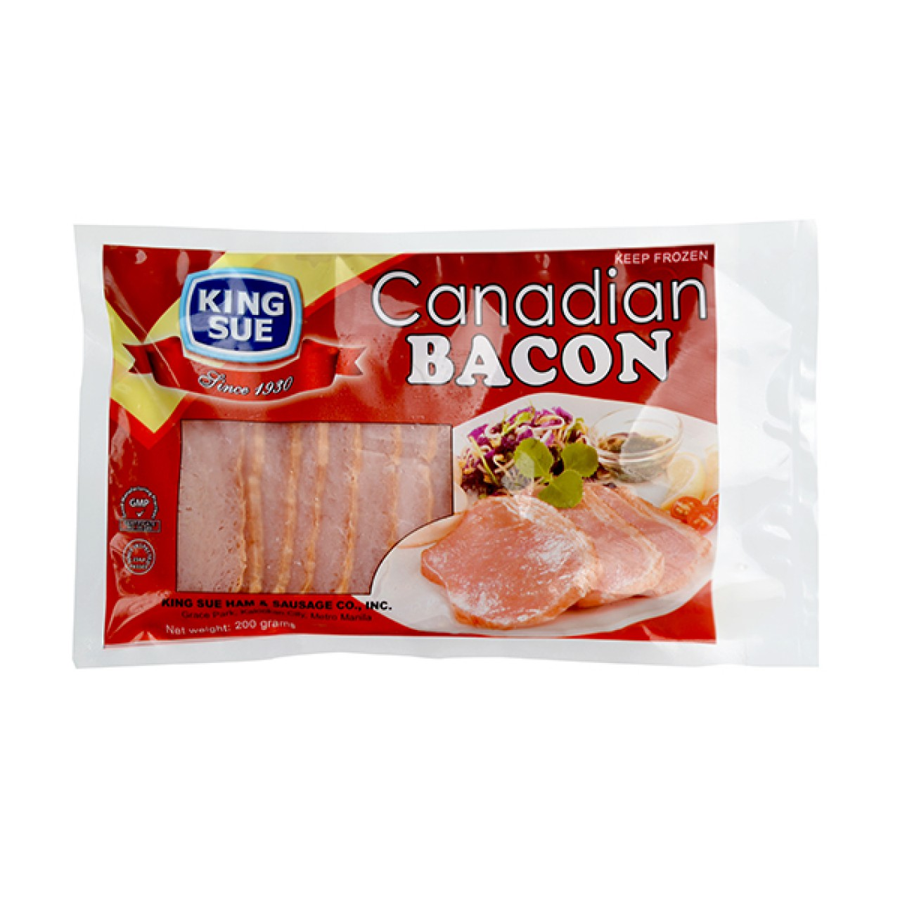 KING SUE CANADIAN BACON 200G