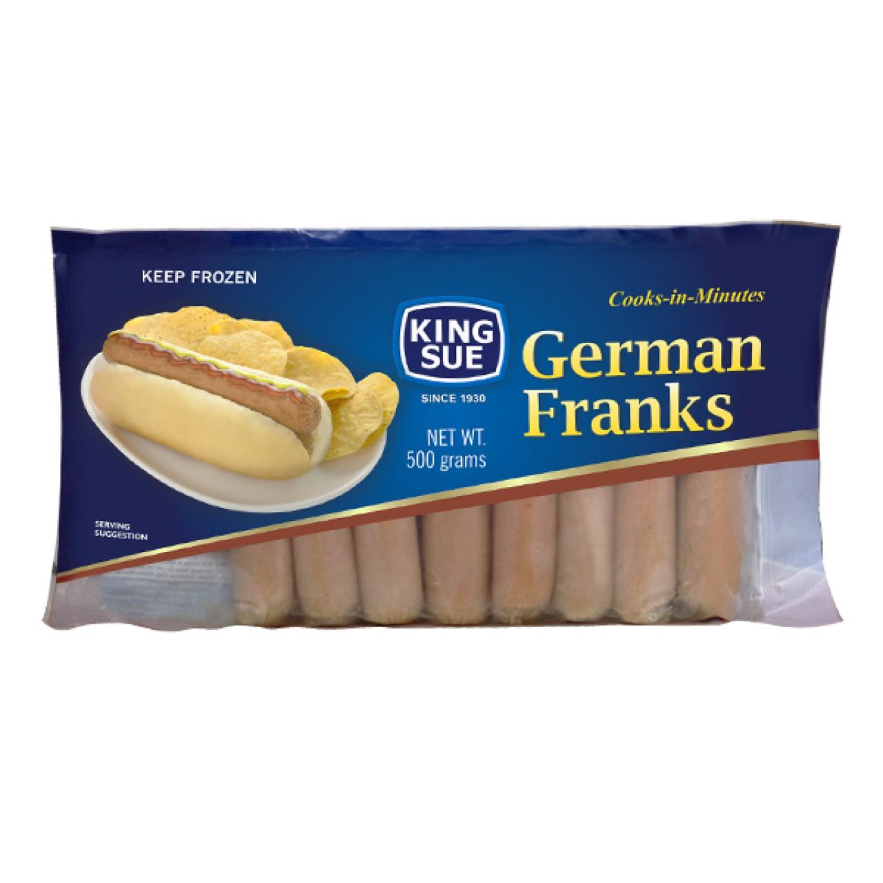 KING SUE GERMAN FRANKS 500G