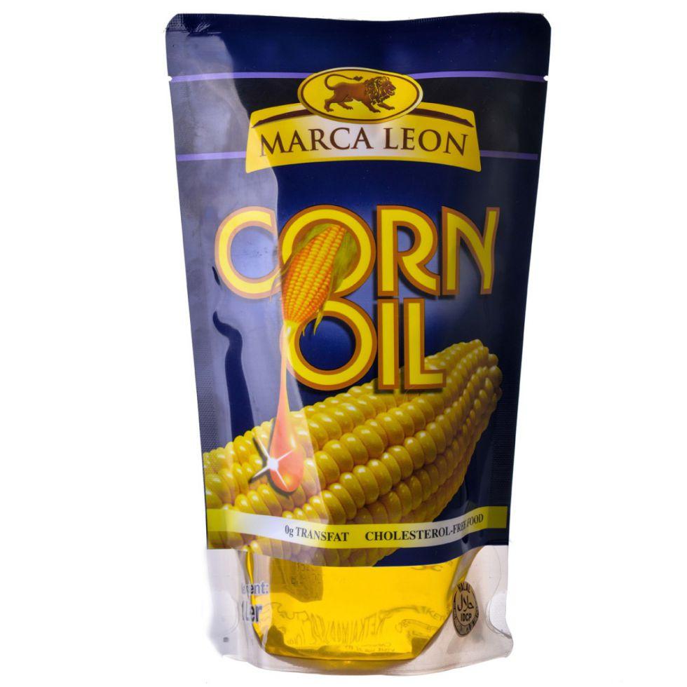 MARCA LEON CORN OIL POUCH 1L