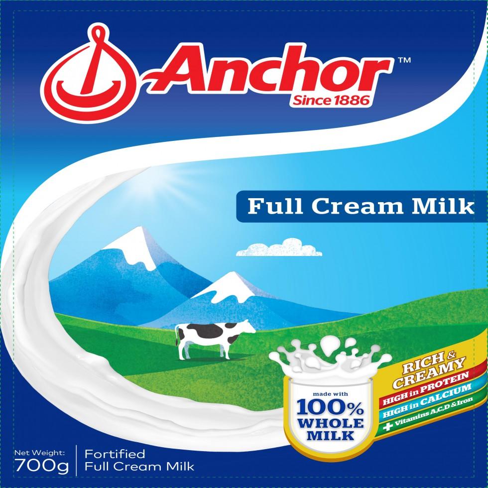 ANCHOR FULL CREAM MILK 700G