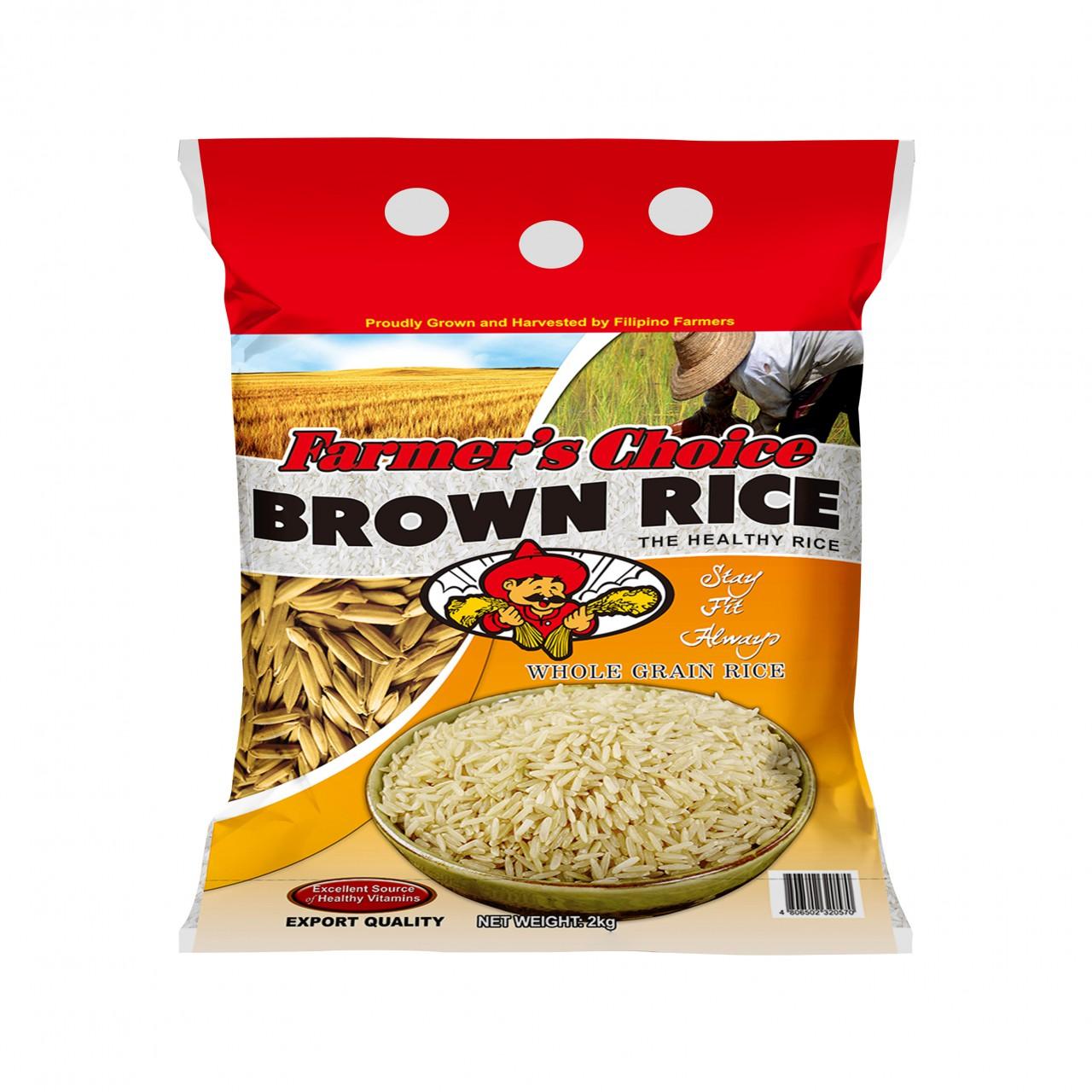 FARMERS CHOICE BROWN RICE2KG