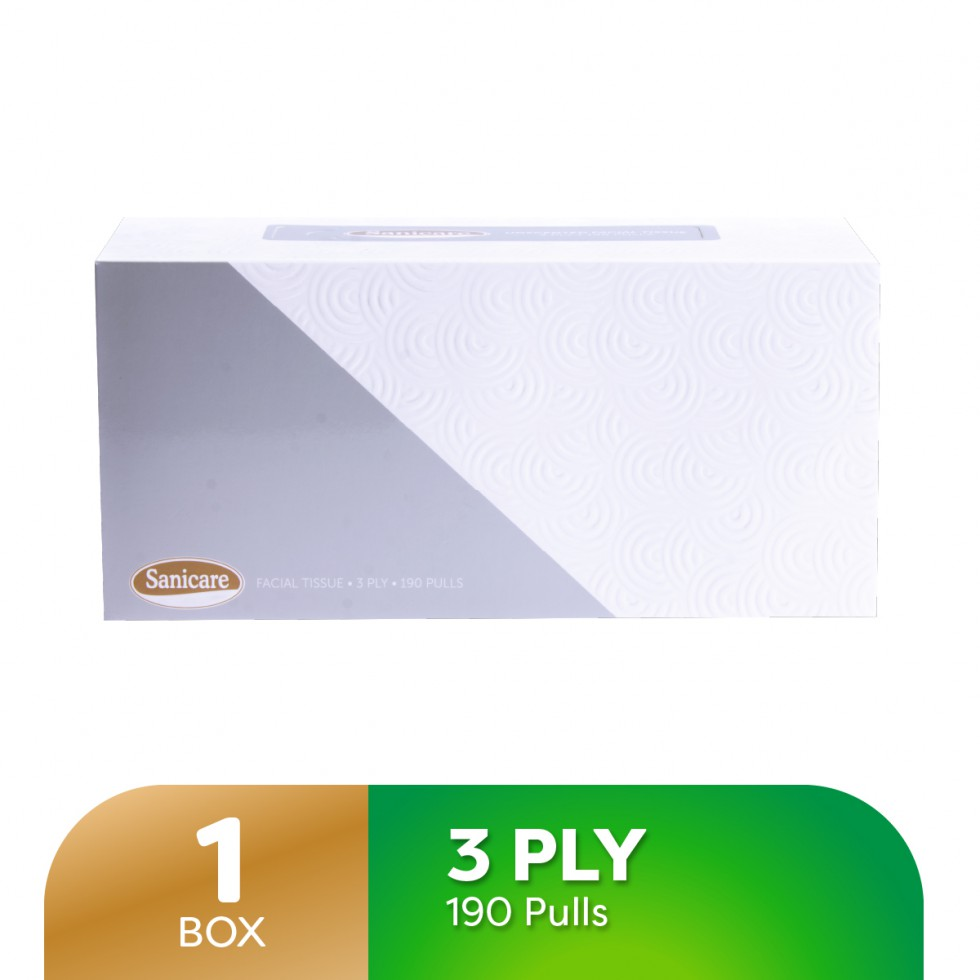 SANICARE FT LRGE BOX 3PLY 190P