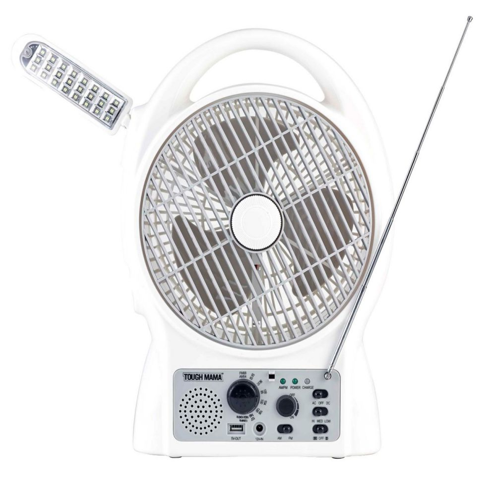 TOUGH MAMA RECHARGEABLE FAN WITH RADIO NTMRF-6212 8