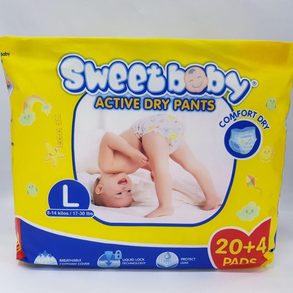 SWEET BABY ACTV DRYPNTS L 20+4
