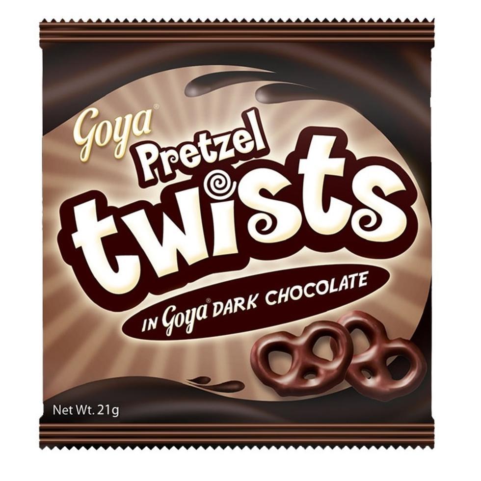 GOYA TWISTS DARK CHOCO 28G