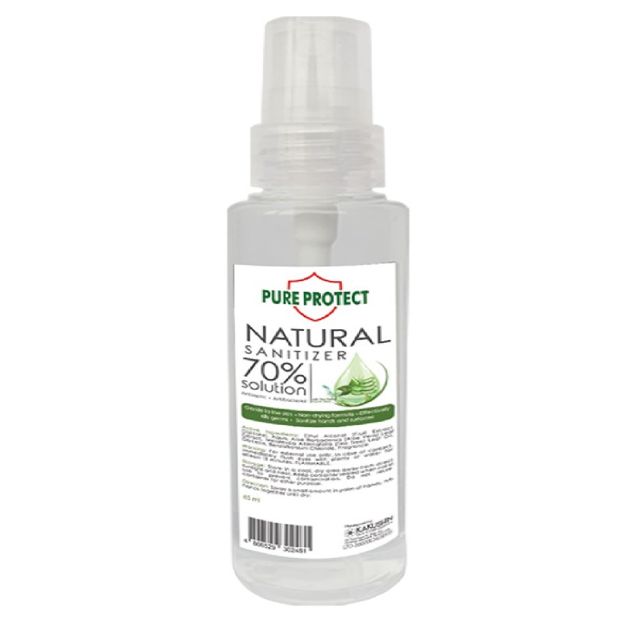 PURE PROTECT N/SNTZER ORG 65ML