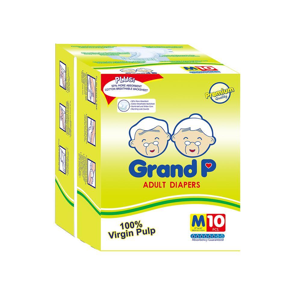 GRANDP ADULT DIAPER MEDIUM 10S