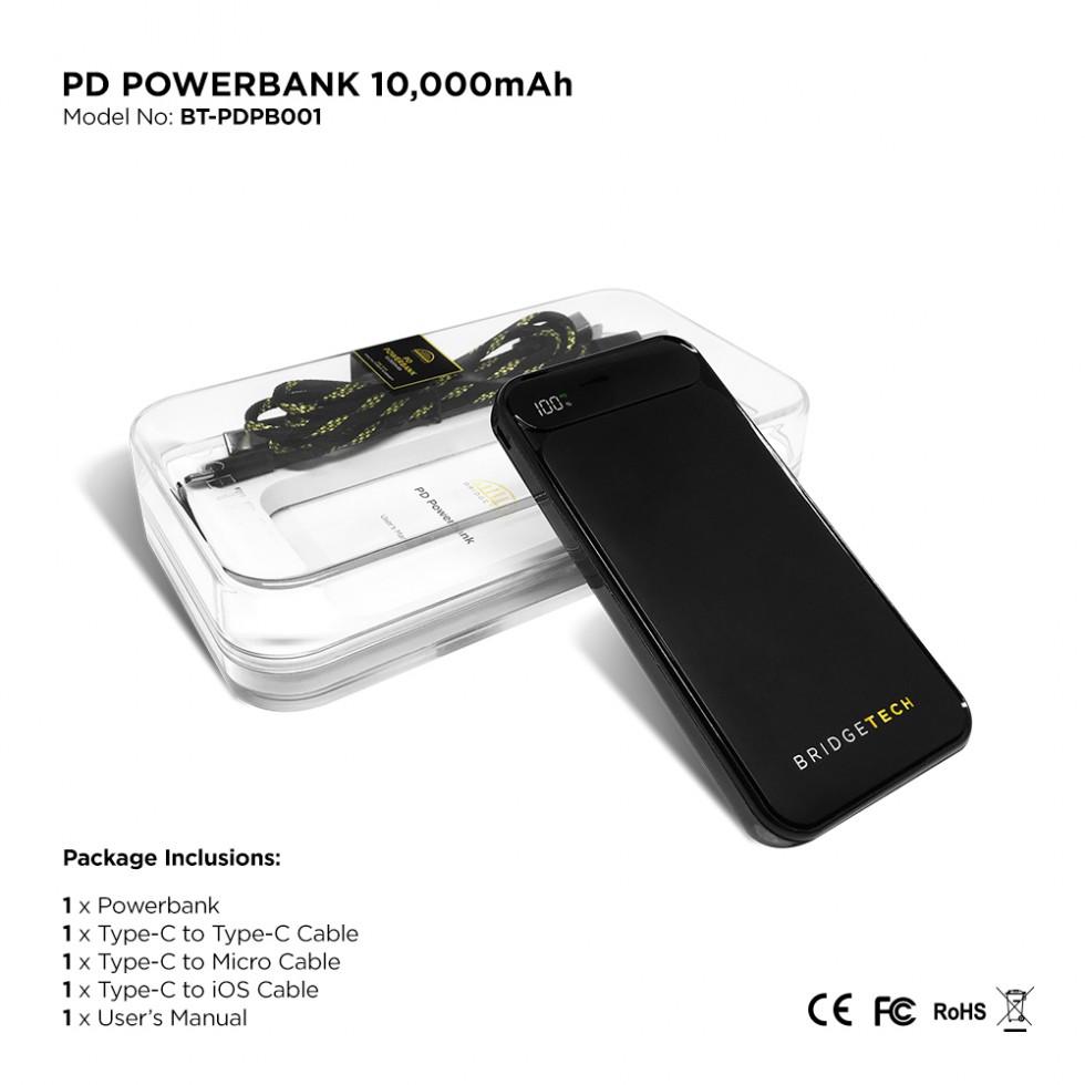 BRIDGETECH PD POWER BANK 10K