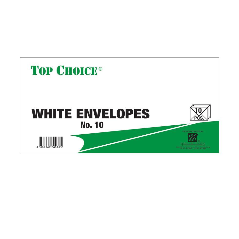 ENVELOPE-SOS-C&P #10 10S WHITE
