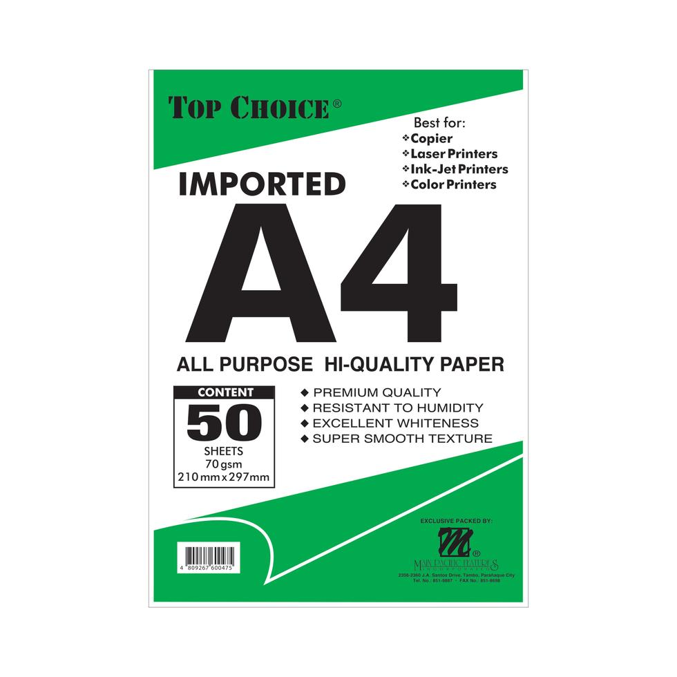 BOOK PAPER-SOS-C&P 50S A4