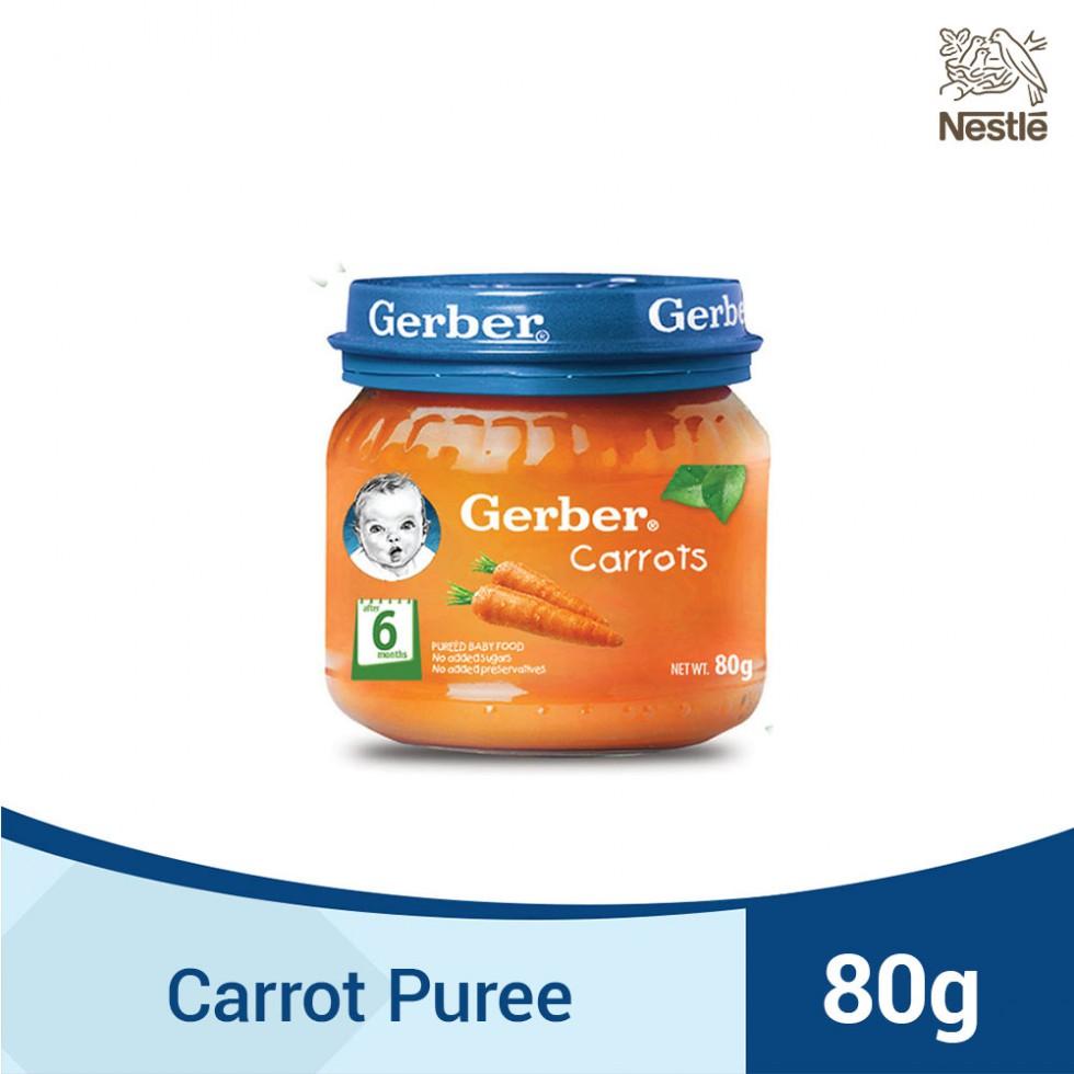 GERBER 1ST FOODS CARROTS 80G