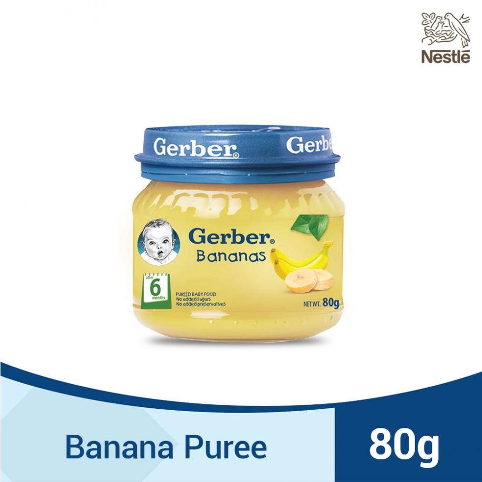 GERBER 1ST FOODS BANANAS 80G