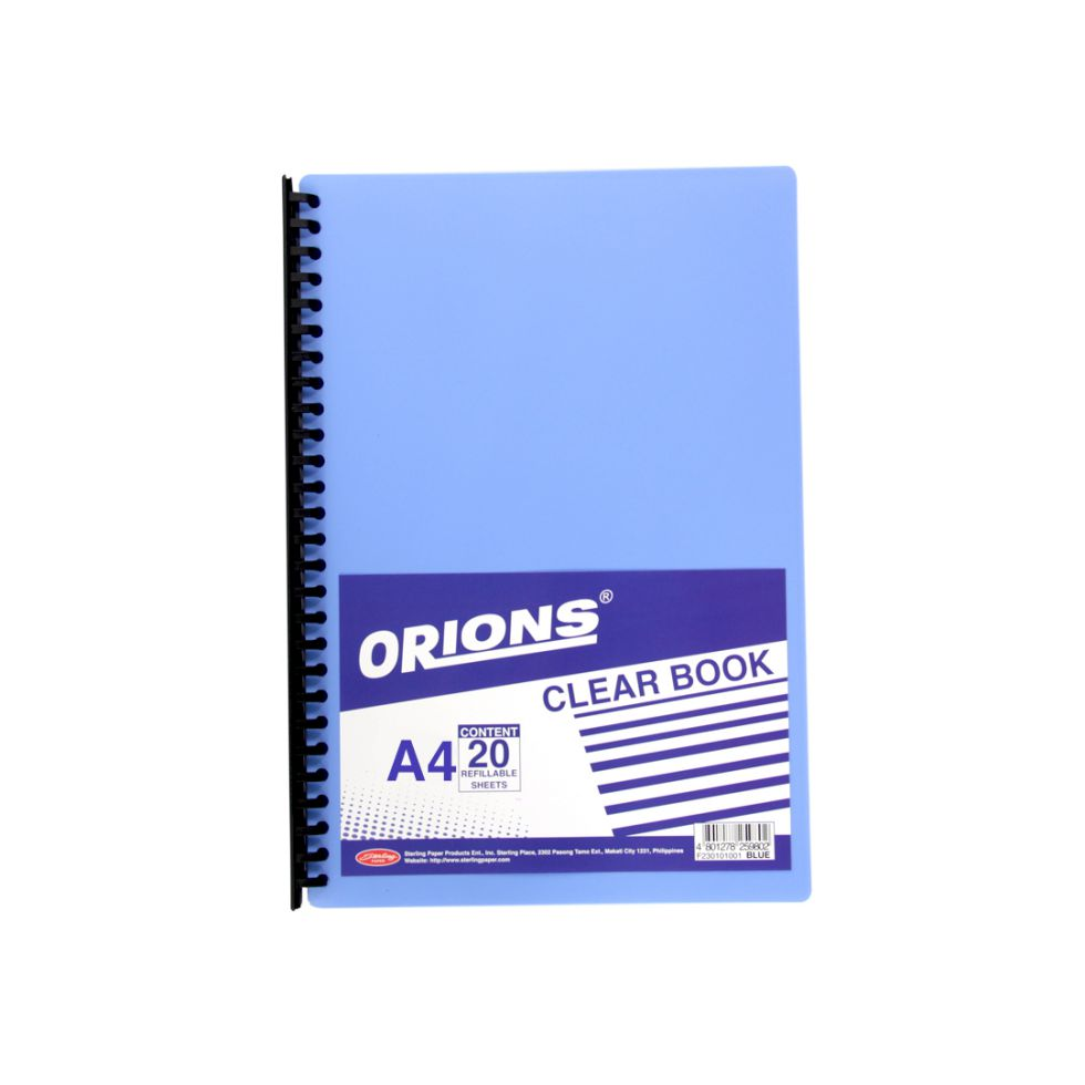 CLEARBOOK-SOS-STER-20S A4 BLU