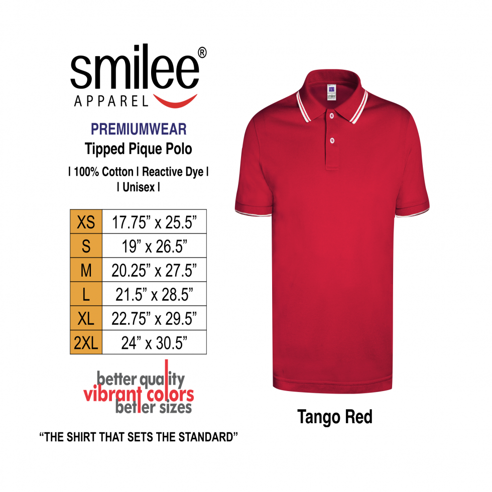 SMILEE POLO PREM TIPP RED XS