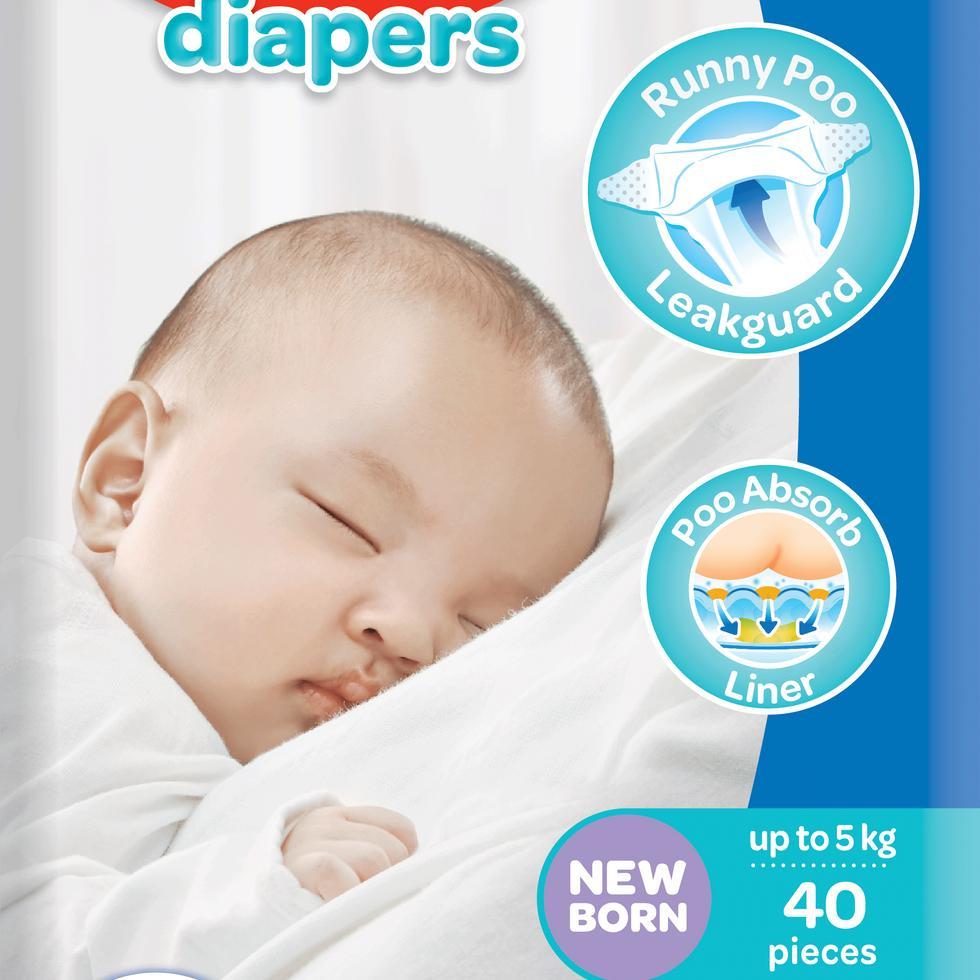 HUGGIES BABY DRY NEWBORN 40S