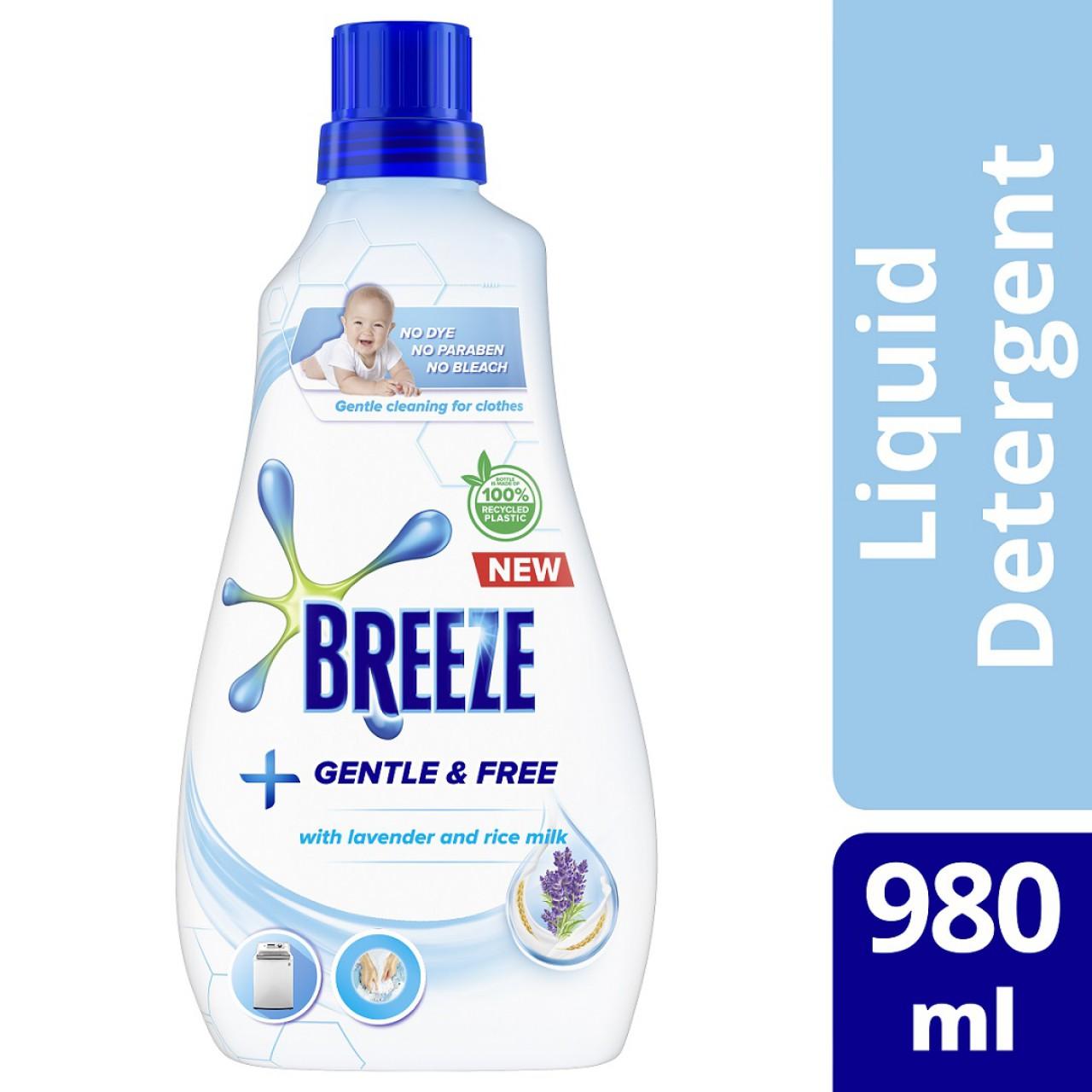 BREEZE LIQ DET GNTLE&FREE980ML