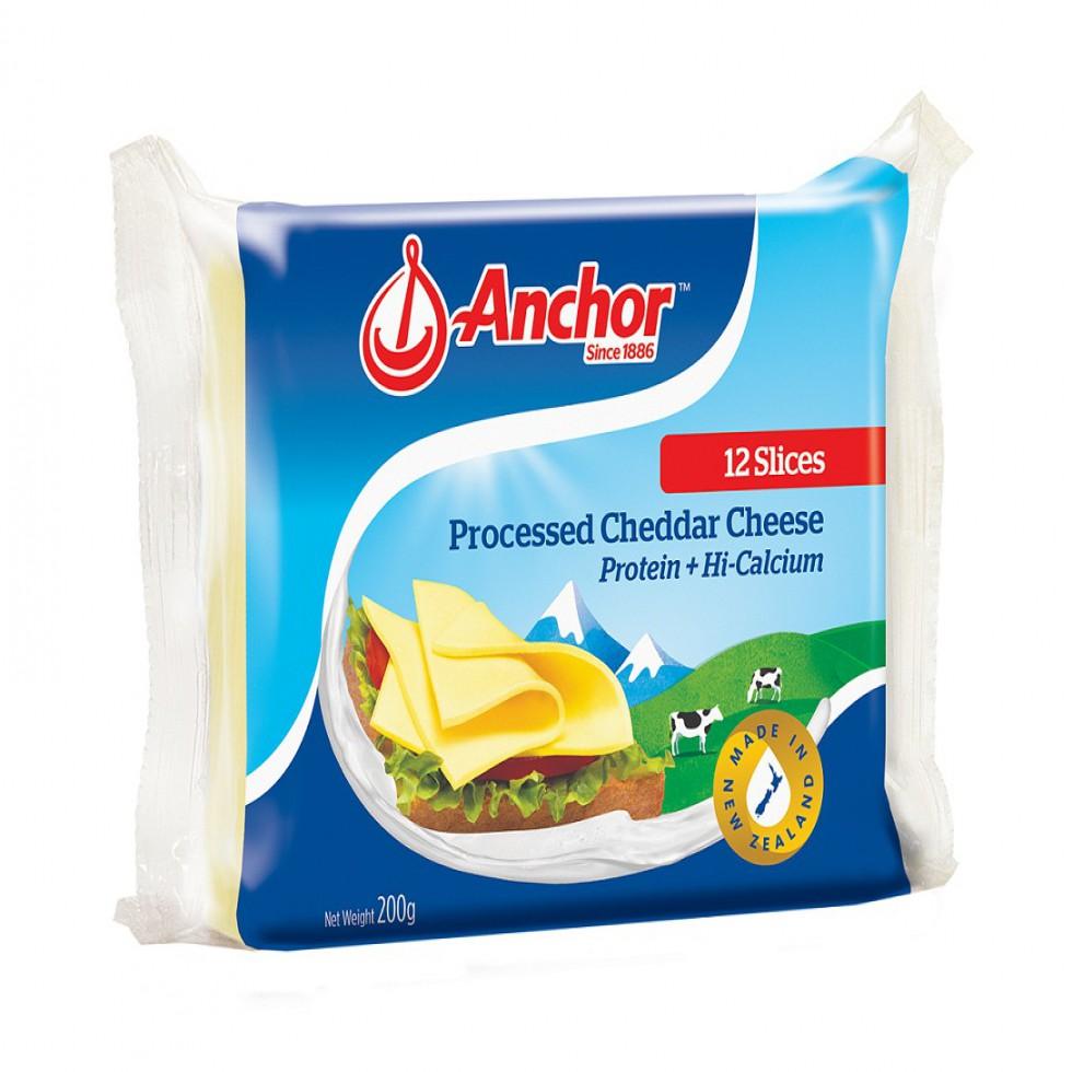 ANCHOR CHEESE SNGLS 200G 12SL