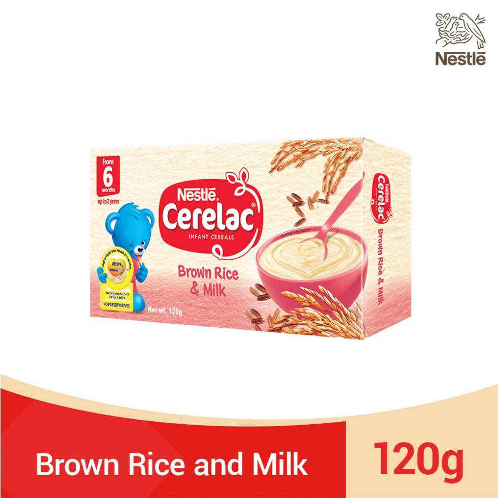CERELAC BROWN RICE & MILK 120G