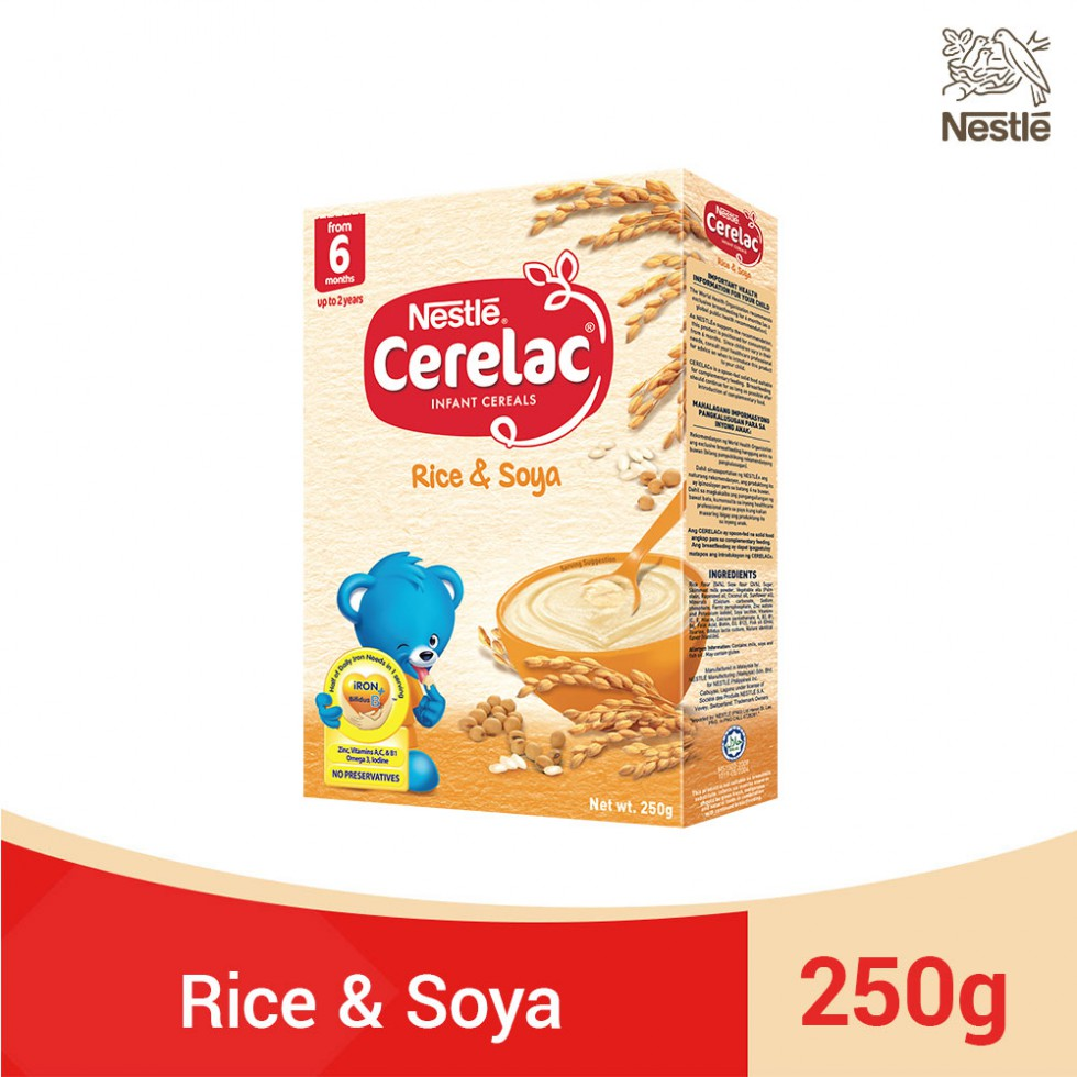 CERELAC RICE & SOYA 250G