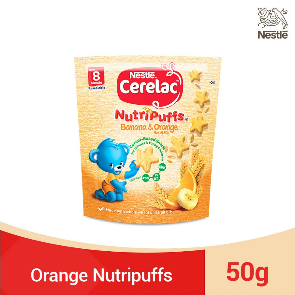 CERELAC NUTRIPUFFS BAN&ORA 50G