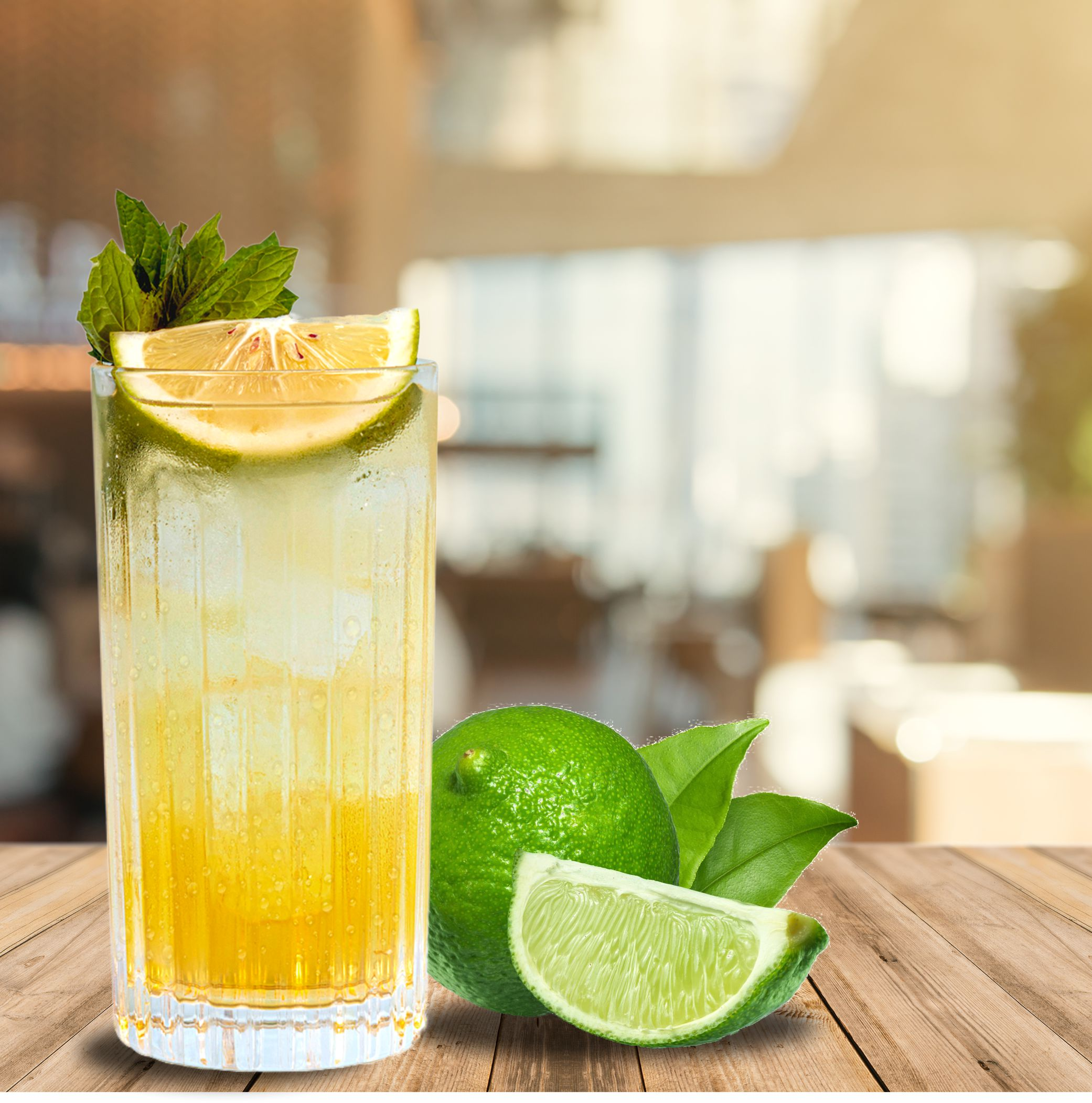 JOHNNIE & LIME RED HIGHBALL